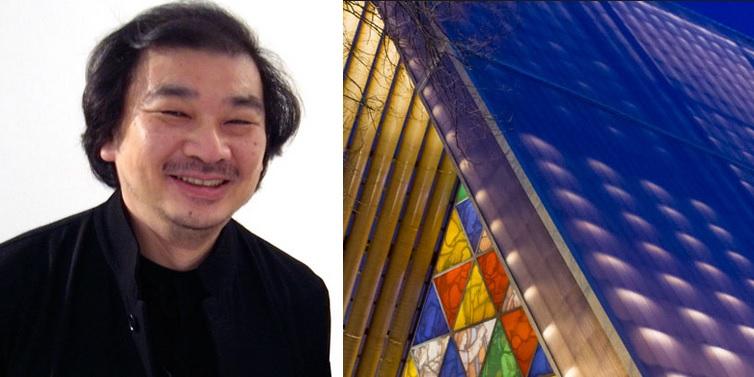 Shigeru Ban's cardboard church