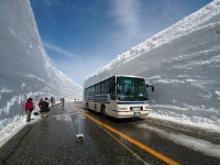 A real snow canyon in Japan