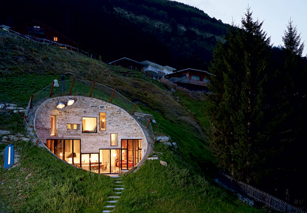 cave house swiss alps