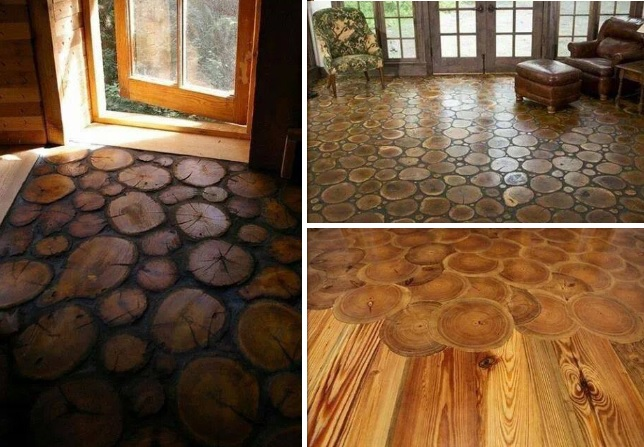 amazing log floors