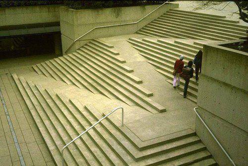 a staircase that caters for disabled people