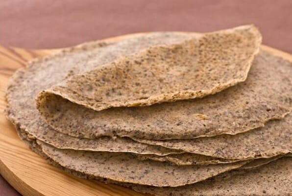 russian blini with buckwheat