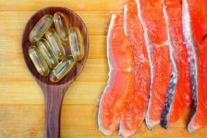 Fish oil pills salmon